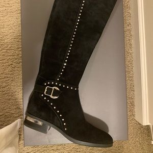 New Suede Black Boots 7 1/2